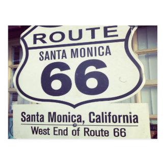 Carte Postale Itinéraire 66 la Californie Santa Monica