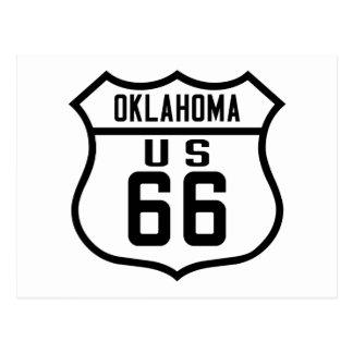 Carte Postale Itinéraire 66 - L'Oklahoma