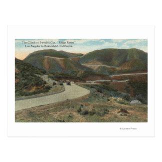 Carte Postale Itinéraire de Ridge vers la coupe et Bakersfield