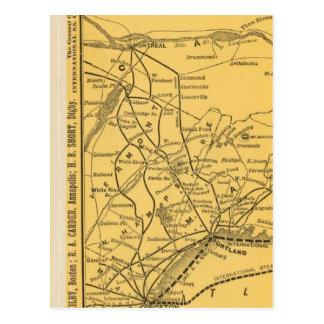 Carte Postale Itinéraires internationaux de paquebot, la