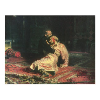 Carte Postale Ivan le terrible et son fils