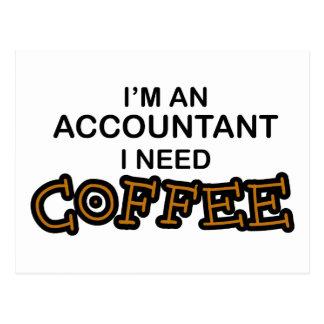 Carte Postale J'ai besoin de café - comptable