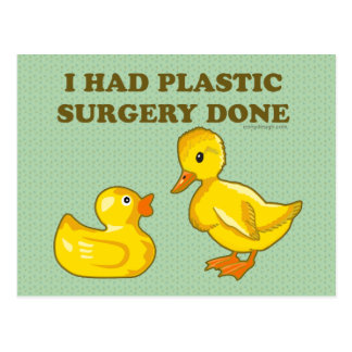 Carte Postale J'ai fait faire la chirurgie plastique