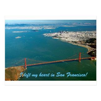 Carte Postale J'ai laissé mon coeur à San Francisco