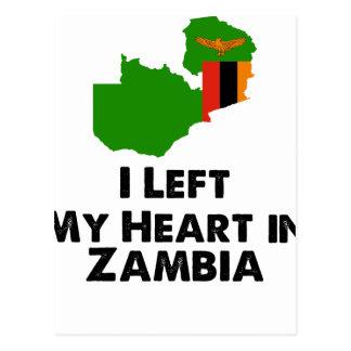 Carte Postale J'ai laissé mon coeur en Zambie