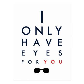 Carte Postale J'ai seulement des yeux pour vous - des lunettes