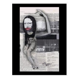 Carte Postale J'ai suivi un régime pendant mon collage de Mona