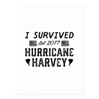 Carte Postale J'ai survécu à l'ouragan Harvey