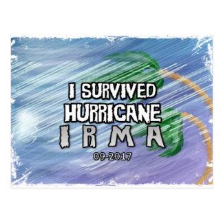 Carte Postale J'ai survécu à l'ouragan Irma