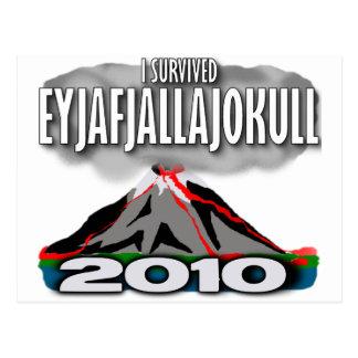 Carte Postale J'ai survécu au volcan de l'Islande