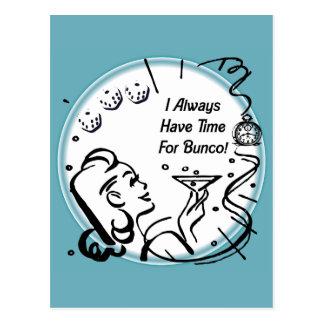 Carte Postale J'ai toujours le temps pour Bunco par Artinspired