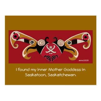 Carte Postale J'ai trouvé ma déesse intérieure de mère/pour