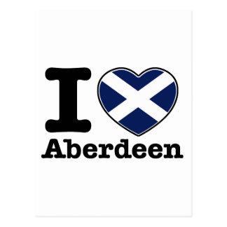 Carte Postale J'aime Aberdeen
