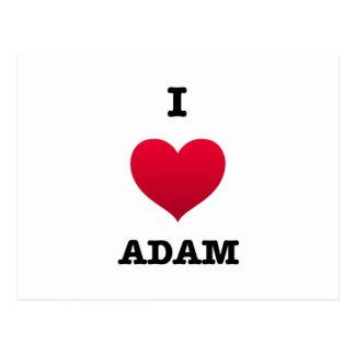 Carte Postale J'aime Adam