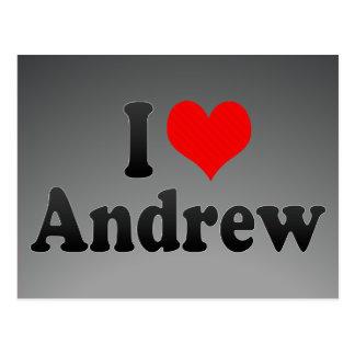 Carte Postale J'aime Andrew