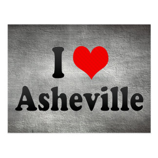 Carte Postale J'aime Asheville, Etats-Unis
