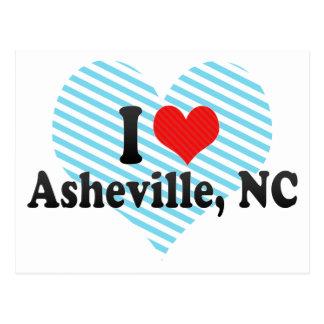 Carte Postale J'aime Asheville, OR