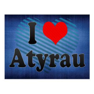 Carte Postale J'aime Atyrau, Kazakhstan