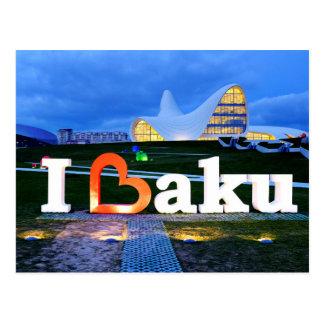 Carte Postale J'aime Bakou