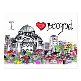 Carte Postale j'aime beograd1