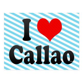 Carte Postale J'aime Callao, Pérou