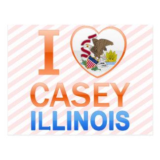 Carte Postale J'aime Casey, IL