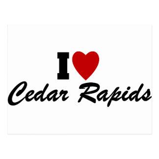 Carte Postale J'aime Cedar Rapids