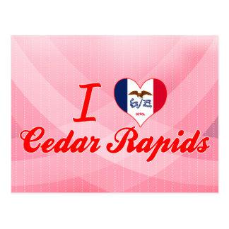 Carte Postale J'aime Cedar Rapids, Iowa