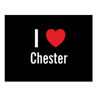 Carte Postale J'aime Chester