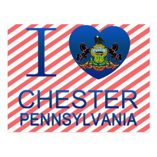 Carte Postale J'aime Chester, PA