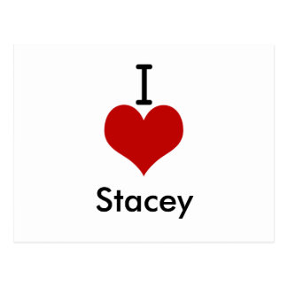 Carte Postale J'aime (coeur) Stacey