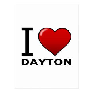 CARTE POSTALE J'AIME DAYTON, OH - OHIO