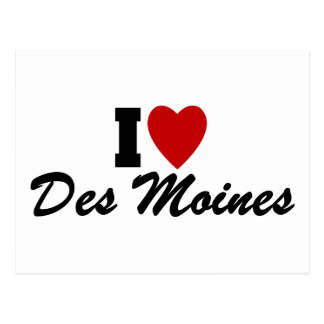 Carte Postale J'aime Des Moines