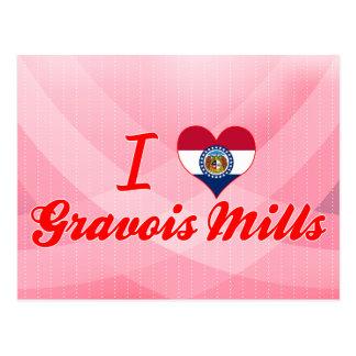 Carte Postale J'aime des moulins de Gravois, Missouri