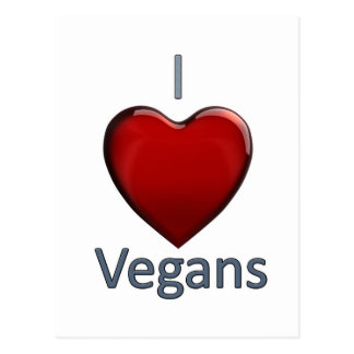 Carte Postale J'aime des végétaliens