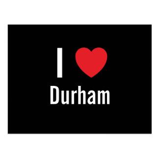 Carte Postale J'aime Durham