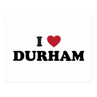 Carte Postale J'aime Durham la Caroline du Nord