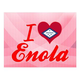 Carte Postale J'aime Enola, Arkansas