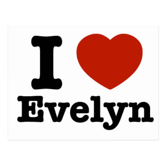 Carte Postale J'aime Evelyn