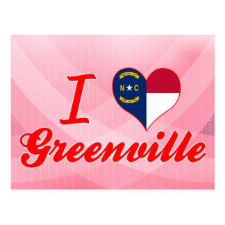 Carte Postale J'aime Greenville, la Caroline du Nord