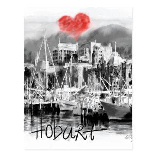 Carte Postale J'aime Hobart
