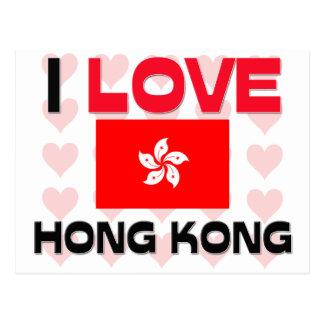 Carte Postale J'aime Hong Kong