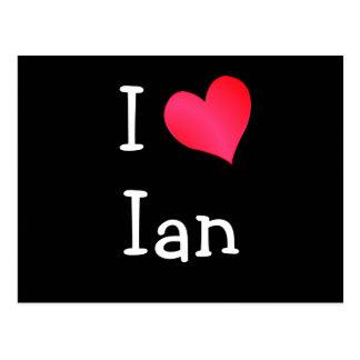 Carte Postale J'aime Ian