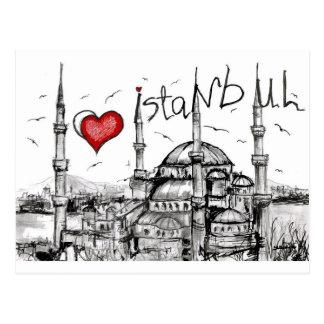 Carte Postale J'aime Istanbul