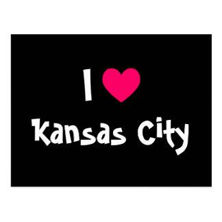 Carte Postale J'aime Kansas City