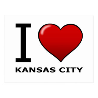 CARTE POSTALE J'AIME KANSAS CITY, KS - LE KANSAS