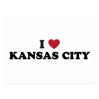 Carte Postale J'aime Kansas City le Kansas