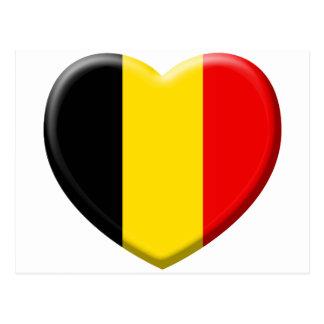 Carte Postale j'aime la Belgique