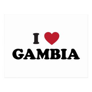Carte Postale J'aime la Gambie
