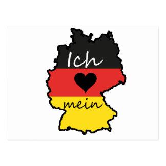 Carte Postale J'aime la mon Allemagne